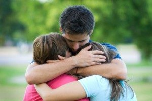 Family Hugging, Wrongfull Death Attorney at Juneau, Boll & Stacy, PLLC, in Addison & Dallas, TX